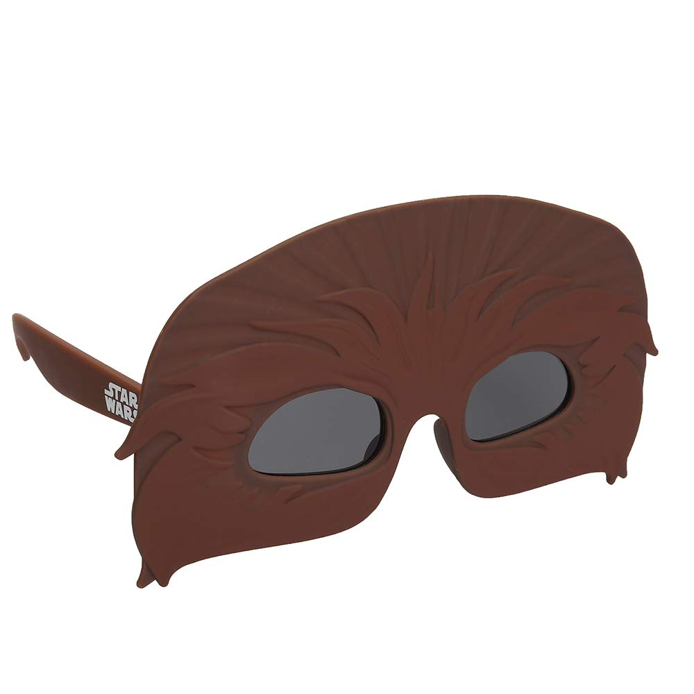 Sun-Staches Licensed Star Wars Chewbacca Chewie Shades, Costume Party Favor Sunglasses UV400 Brown