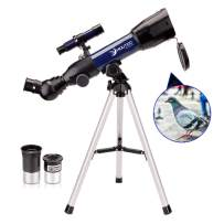 Moutec Simple Telescope for Kids and Beginners, 50mm Portable Telescope, STEM Scientific Toy for Children Toddlers 5+ Year Old, Ideal Birthday Holiday Astronomy Gift