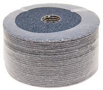 """4-1/2"""" x 7/8"""" 50 Grit Zirconia Resin Fiber Sanding Grinding Discs - 25 Pack"""