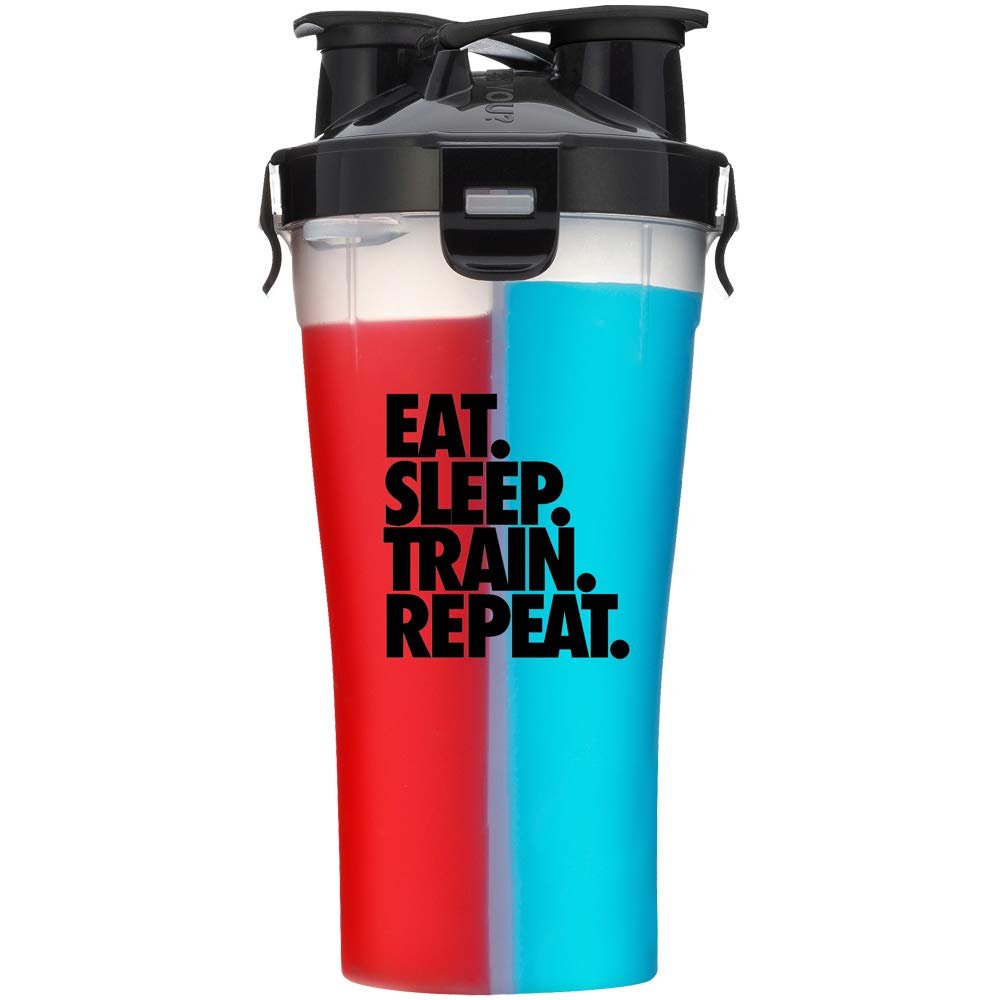 Hydra Cup - 30oz Dual Threat Shaker Bottle, Shaker Cup + Water Bottle, 2 in 1, Leak Proof, Awesome Colors, Save Time & Be Prepared, Eat Sleep Train Repeat