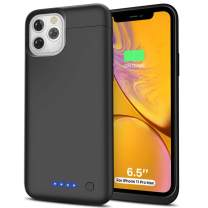LCLEBM iPhone 11 Pro Max Battery Case, 6500mAh Portable Protective Charging Case Rechargeable Extended Battery Pack Charger Case for iPhone 11 Pro Max (6.5 inch) - Black