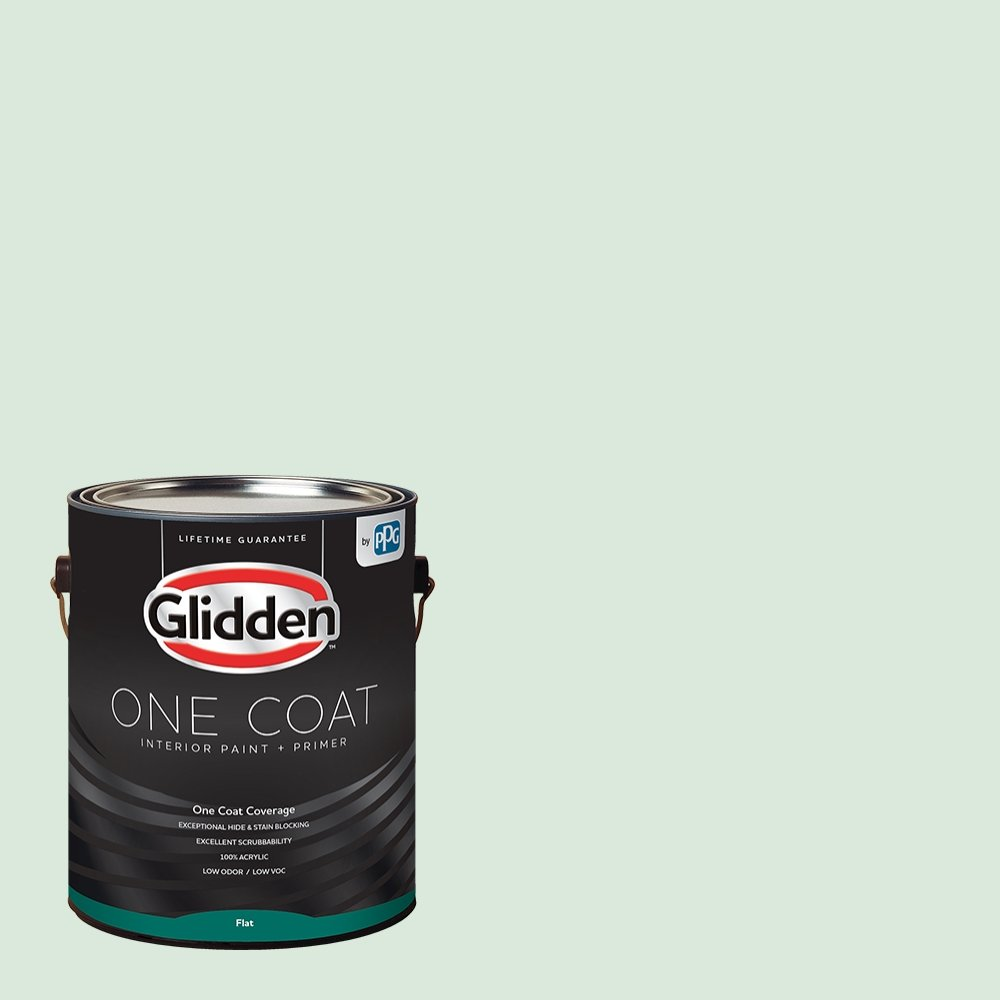 Glidden Interior Paint + Primer: Green Interior Paint /Tint of Green, One Coat, Flat, 1 Gallon