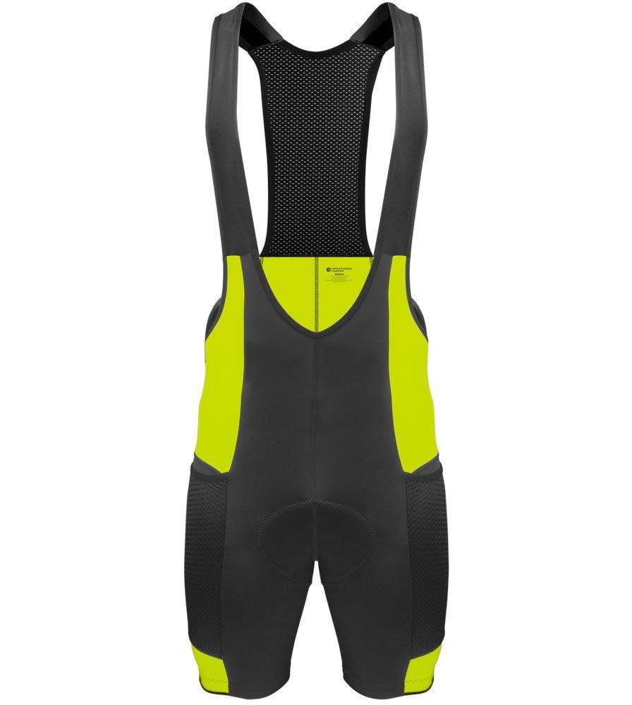 Aero Tech Men's Gel Touring Bib Shorts - Bibs Padded for Cycling Made in USA