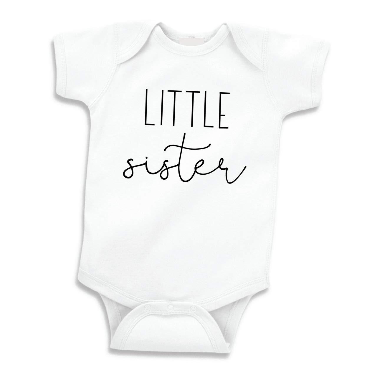 Little Sister Shirt for Girls Baby Announcement