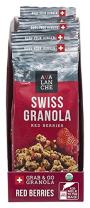 Avalanche Organic Red Berries Swiss Granola, 1.76 Ounce Bag (Pack of 6) Organic, Non-GMO, All Natural, Kosher, Portable Packet of Granola, Convenient Size Snack On The Go, Can Pour in Milk or Yogurt