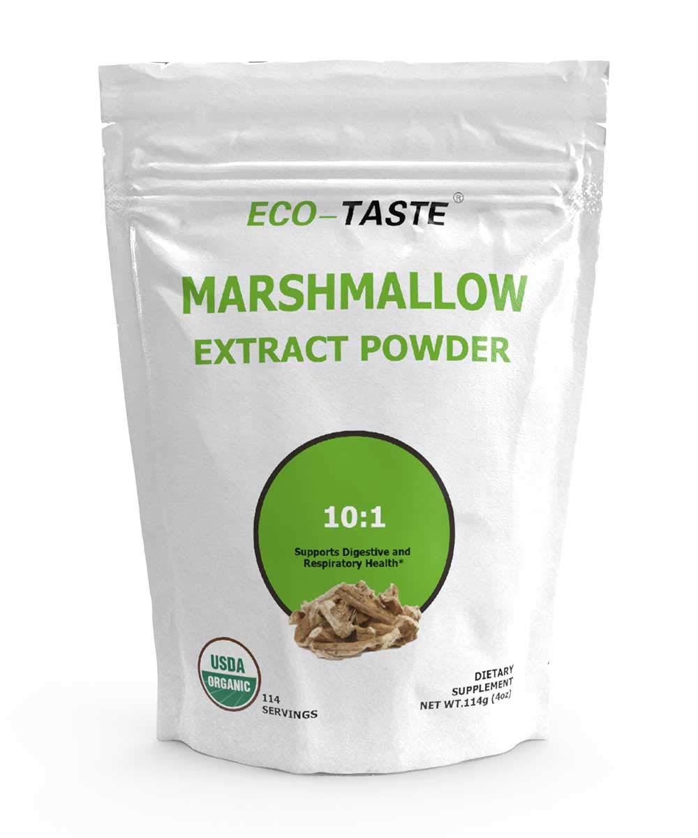 Organic Marshmallow Root Powder, 10:1 Extract Powder 4 Ounce (114 Grams)