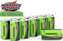 Interstate Batteries C All-Purpose Alkaline Battery 12 Pack - Workaholic (DRY0080)