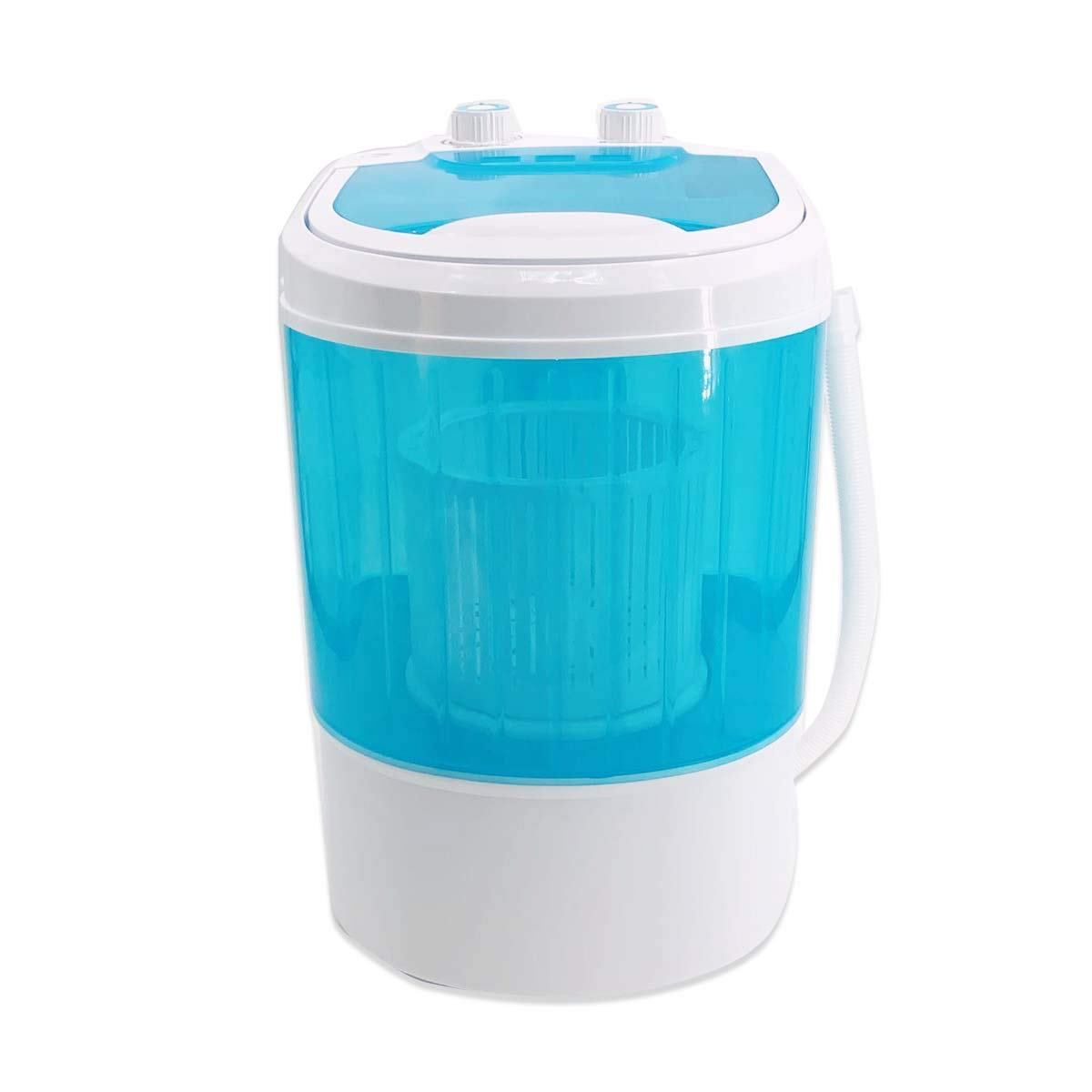 EWANYO Mini Portable Washing Machine & Spin Dryer Small Single Tub Washer Automatic Compact Washer with Timer Control and Drain Hose Mini Travel Washing Machine for Apartment, RV, Traveling (Blue)