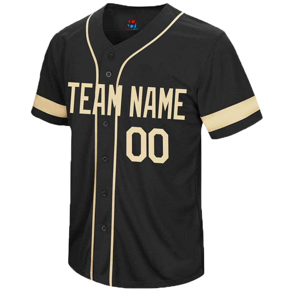 Pullonsy College Custom Baseball Jersey for Men Women Youth Embroidered Your Name & Numbers S-8XL - Design Your Own