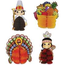 Beistle 4-Pack Decorative Thanksgiving Playmates, 4-Inch-5-Inch, Pkg/12