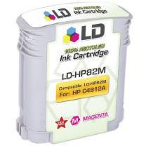 LD Remanufactured Ink Cartridge Replacement for HP 82 C4912A (Magenta)
