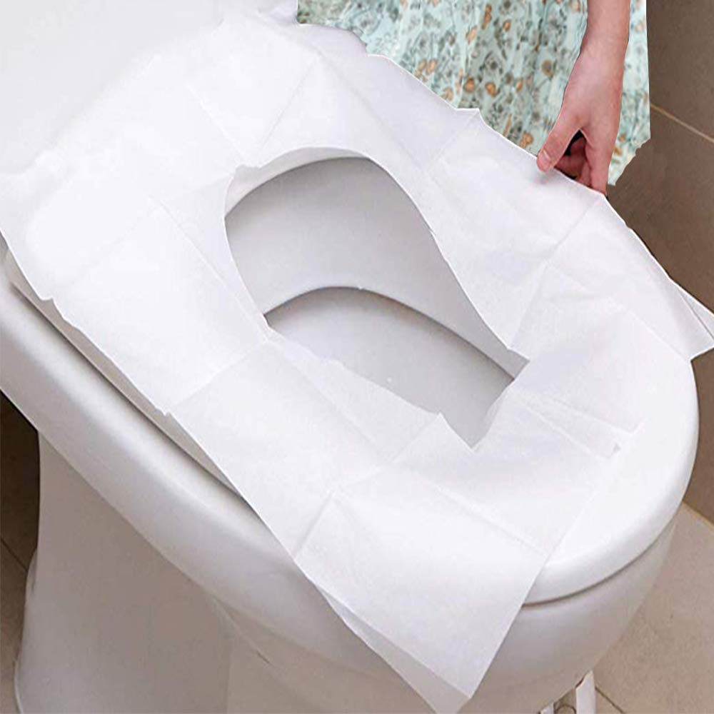 Supermore Disposable Toilet Seat Covers – 100 Packs Flushable Toilet Seat Covers for Kids, Toddlers and Adults for Use During Travel,Home,Potty Training