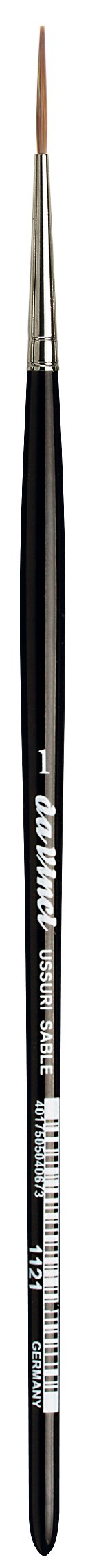 da Vinci Watercolor Series 1121 Sign Painting/Lettering Liner Paint Brush, Straight-Edge Tip Russian Red Sable, Size 1