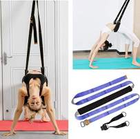 TOCO FREIDO Yoga Stretching Strap Adjustable Leg Stretcher & Back Assist Trainer, Sports Bands Improve Leg Waist Back Flexibility Great Ballet Dance Gymnastics Trainer Stretching Equipment Training