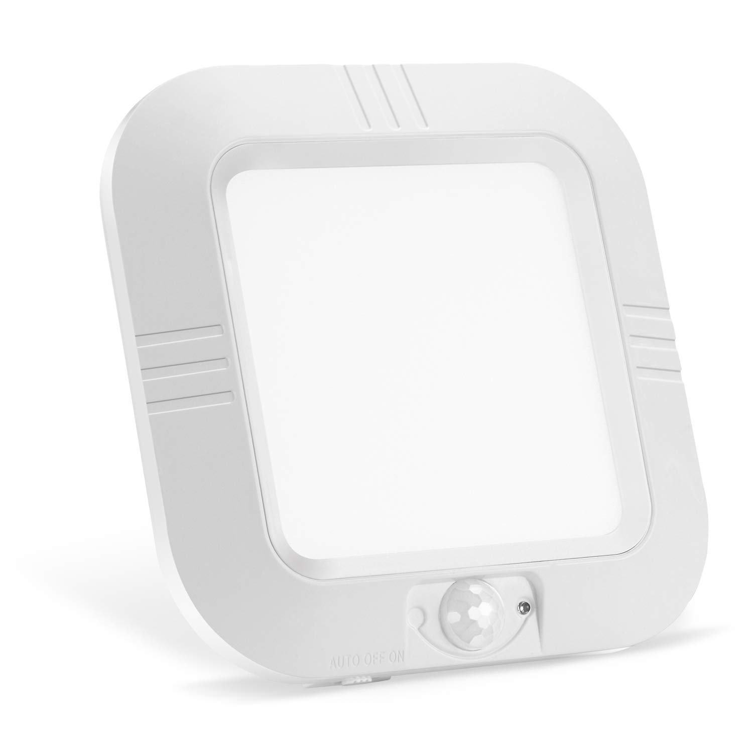 Lineway Motion Sensor Ceiling Light Battery Operated Wireless Motion Activated LED Ceiling Light 6000K 180LM Indoor Outdoor for Closets Stairway Cabinet Basement Laundry Pantry(Battery Not Included)