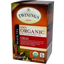 Twinings of London Organic and Fair Trade Certified Chai Tea Bags, 20 Count (Pack of 1)