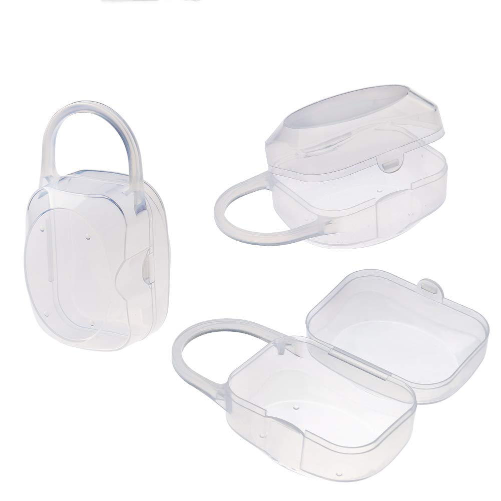 Accmor Pacifier Case, Pacifier Holder, Baby Pacifier Box for Travel, BPA Free, 3 Pack