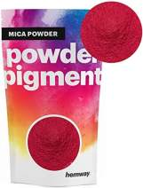Hemway Mica Pigment Colour Powder Cosmetic Soap Bath Bomb Eyeshadow Nail Art Sparkle Eye Shadow Bath Bombs Pearlescent Foundation Iron Oxide (3.6oz / 100g, Metallic Hot Pink)