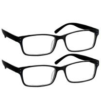 Black Computer Reading Glasses 0.00 Protect Your Eyes Against Eye Strain, Fatigue and Dry Eyes from Digital Gear with Anti Blue Light, Anti UV, Anti Glare, and are Anti Reflective