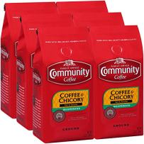 Community Coffee & Chicory Decaf, Ground Coffee, 12 Ounces (Pack Of 6)