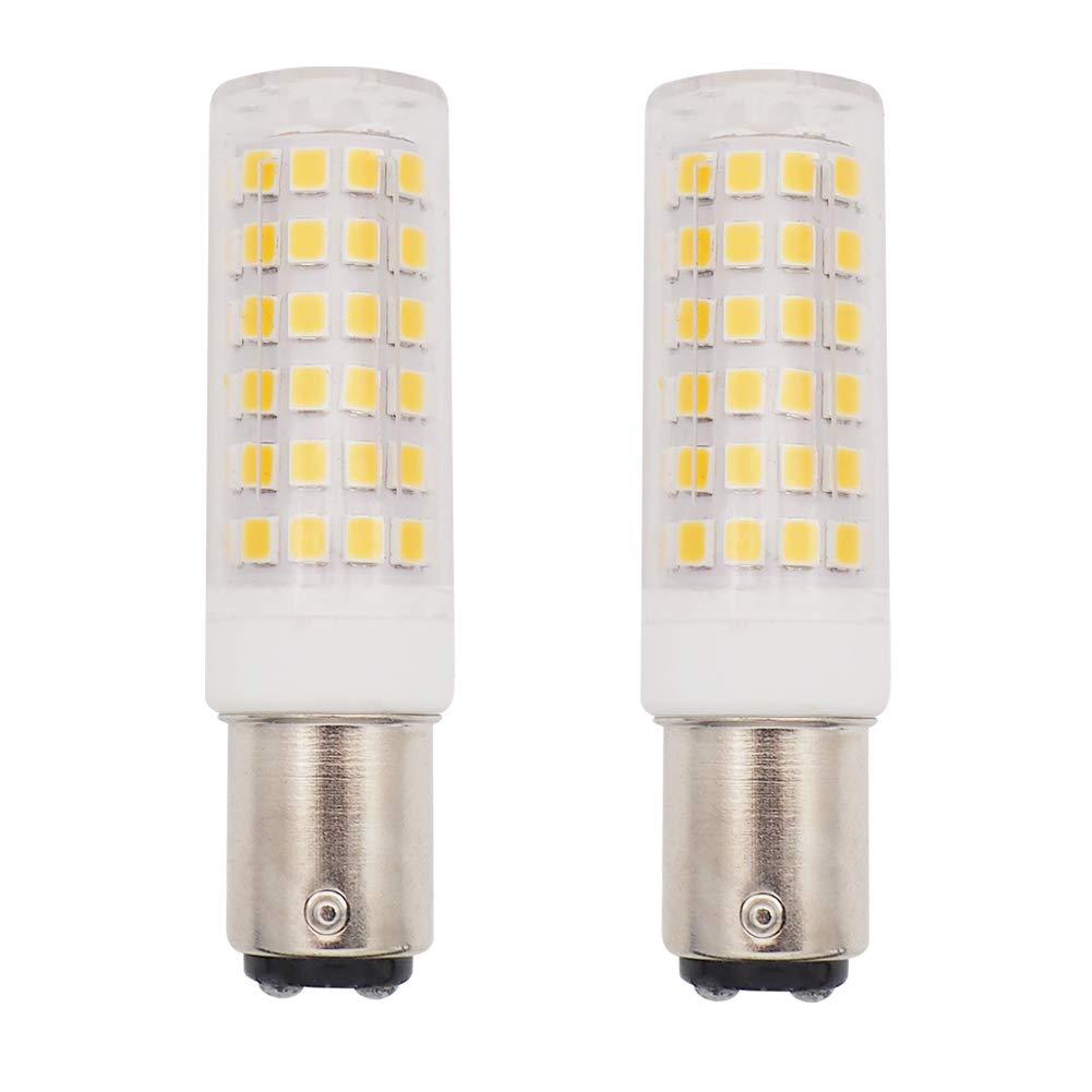 GRV BA15D 1142 1076 78-2835 SMD LED Lights Bulbs 5W AC/DC 12-14V High Bright Bulbs Car RV Truck Tail Lights Warm White Pack of 2