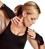 Insta Slim Compression Short Wrist Guard, Small, Black