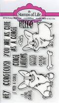 Stamps for Card-Making and Scrapbooking Supplies by The Stamps of Life - Cute Animal Pet Dog Corgis2Stamp