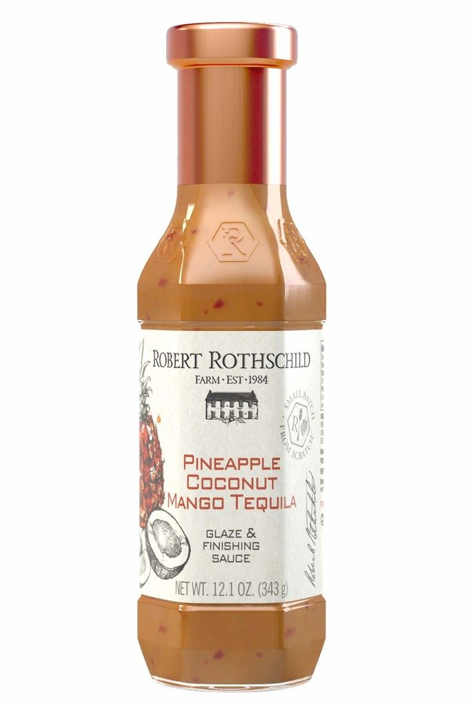 Robert Rothschild Farm Pineapple Coconut Mango Tequila Sauce (12.1 oz) - Glaze & Finishing Sauce - Sweet & Creamy Sauce for Chicken, Fish, Pork, Salmon - Seafood and Poultry Marinade