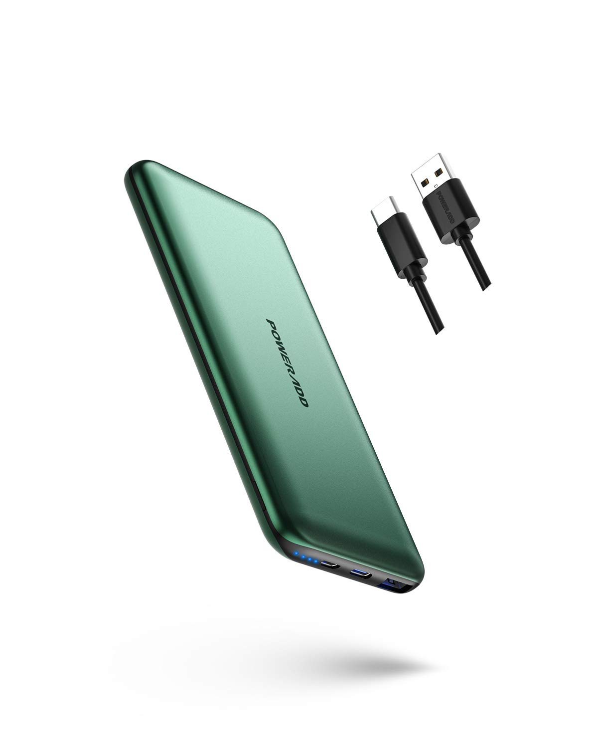 Portable Charger,POWERADD 20W PD&QC 3.0 10000mAh Slim Fast Charging Power Bank with USB C Input/Output External Battery Pack for iPhone 12/Mini/X/XR Samsung S20/S10 Google AirPods iPad Pro and More