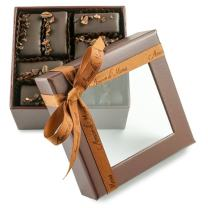 Fine, Artisanal, Vegan Chocolate Gift: Amore di Mona 16 Piece Caffe Mignardise: Made Pure & Simply with Premium Ingredients That Are All Natural, Non-GMO, Kosher, Gluten, Soy, Milk, Sesame & Nut Free