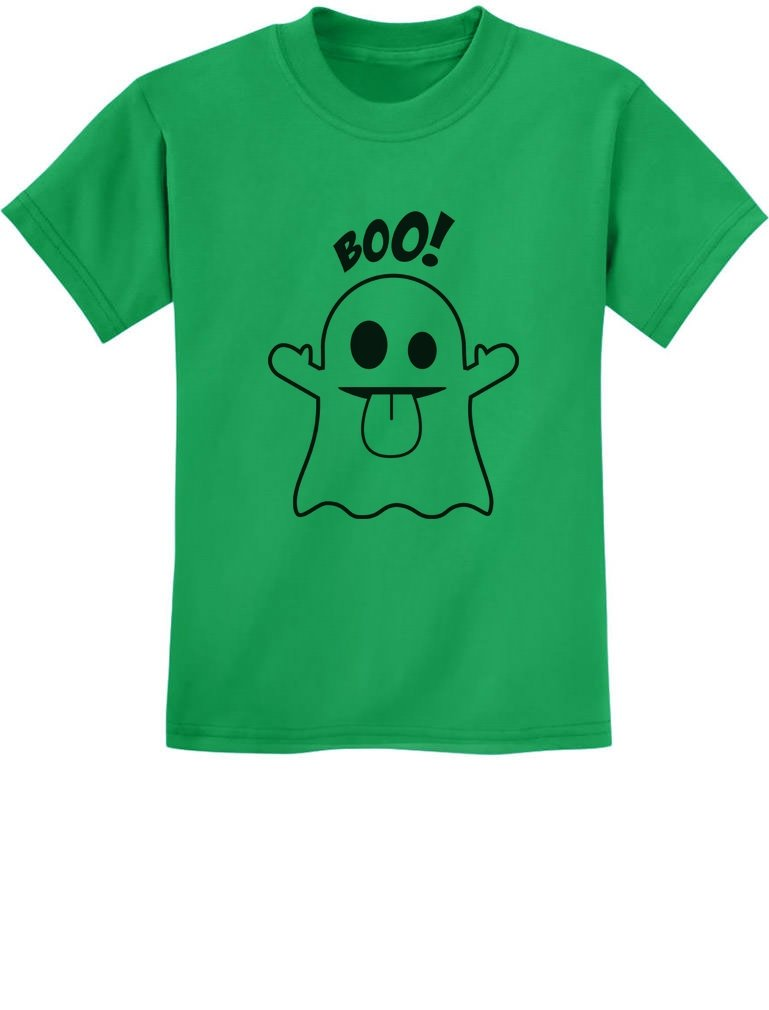 Boo Ghost Easy Halloween Costume Funny Youth Kids T-Shirt