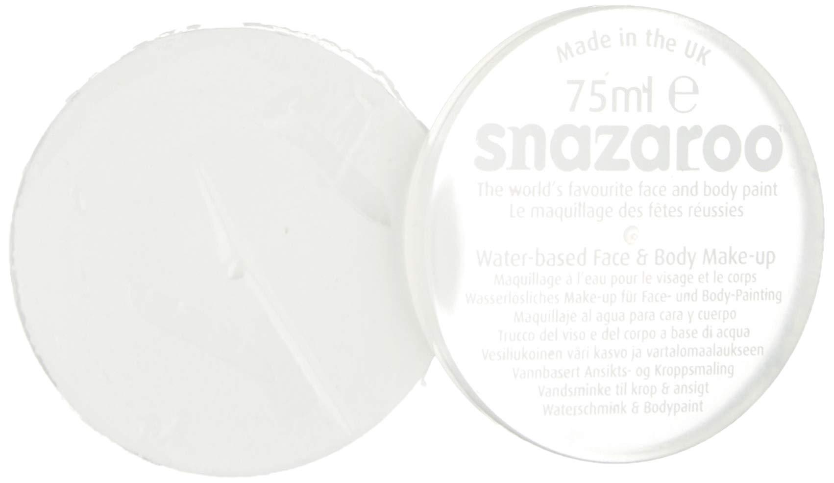 Snazaroo Large Classic Face Paint, White 75ML, 6 Fl Oz