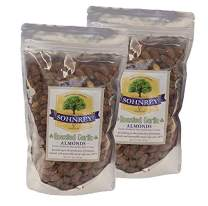 Roasted Garlic Almonds Bold Seasoned Flavored Steam Pasteurized Nut Snacks from the Sohnrey Family Farm 2-Pack of 16 oz Resealable Pouches