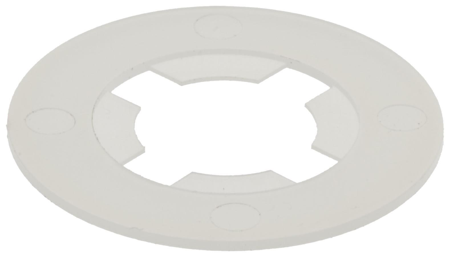 "Nylon 6/6 Retaining Washer, White, 7/16"" Hole Size, 0.5700"" ID, 1-1/32"" OD, 0.0620"" Nominal Thickness (Pack of 100)"