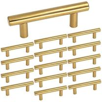 homdiy 2.5 in Cabinet Pulls Gold Kitchen Cabinet Handles 15 Pack - HD201PB Gold Drawer Pulls and Knobs Gold Cabinet Hardware Pulls for Kitchen, Bathroom, Closet, Wardrobe