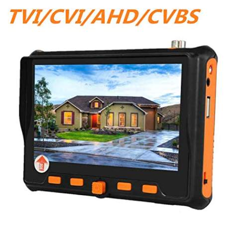 5 Inches 4 in 1 CCTV Monitor Tester, AHD/TVI/CVI/CVBS Coaxial HD Video Monitor Tester, RS-485 PTZ Control, Analog Video Camera/UTP Cable Tester, VGA Input, HD CCTV Video Camera Tester, 5900ATC