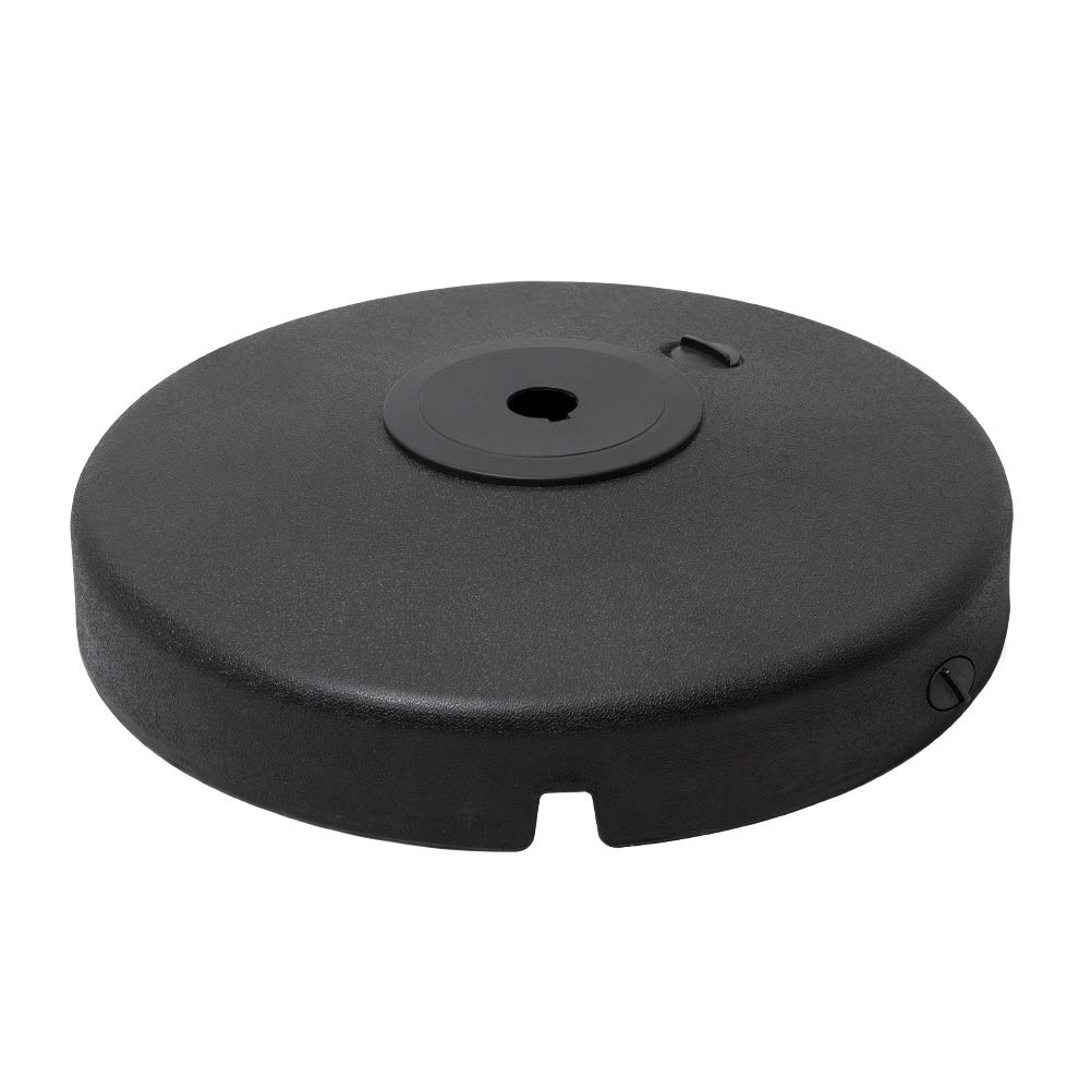 Crestlive Products 100 LBS Patio Offset Umbrella Base, Water & Sand Filled Cantilever Weights, Heavy Duty Round Umbrella Stand for Outdoor, Lawn, Garden (Black)