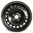 Road Ready Car Wheel for 2015-2019 Volkswagen Golf 15 Inch 5 Lug Black Steel Rim Fits R15 Tire - Exact OEM Replacement - Full-Size Spare