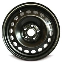 Road Ready Car Wheel for 1992-1994 Audi 100 15 Inch 5 Lug Black Steel Rim Fits R15 Tire - Exact OEM Replacement - Full-Size Spare