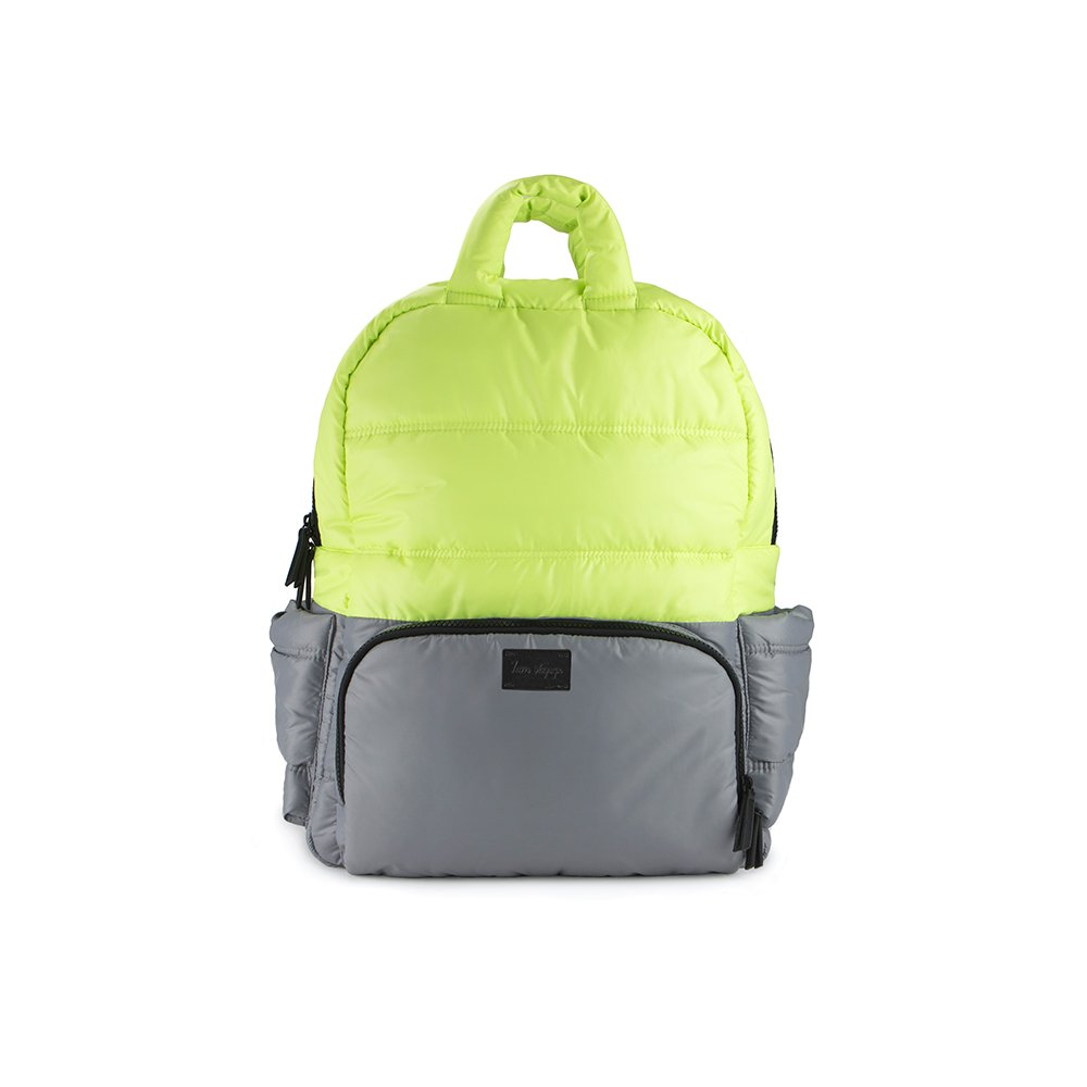7 A.M. Voyage BK718 Diaper Bag Backpack (Neon Lime/Cement)
