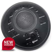 SonTech - White Noise Sound Machine - 10 Natural Soothing Sound Tracks Home, Office, Travel, Baby – Multiple Timer Settings - Battery or Adapter Charging Option