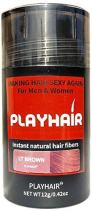 Hair Building Fibers with Natural Keratin to Conceal Instantly for Thinning Hair, Bald spot & Cover Up Hair Loss to Add Volume for Full & Thick Hair for Men & Women by PLAYHAIR (Light Brown)