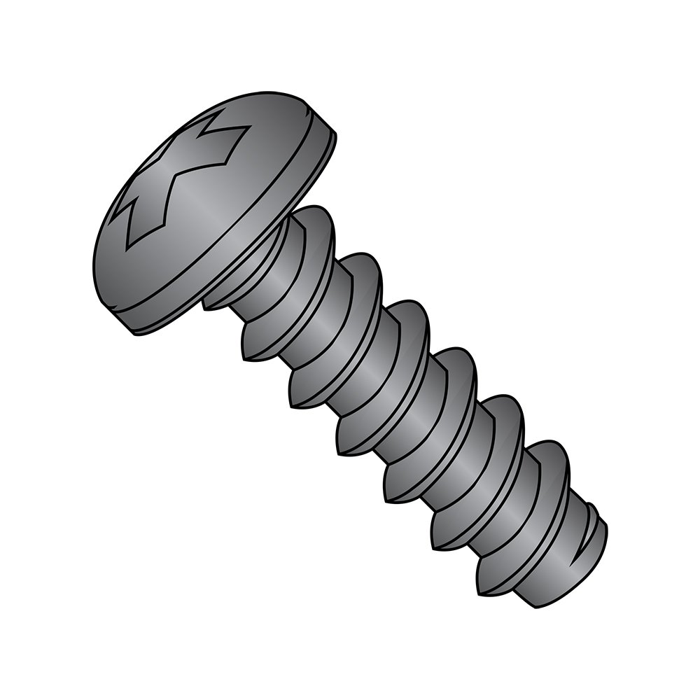 Pack of 50 Type AB #8-18 Thread Size Truss Head Zinc Plated 1-1//2 Length Phillips Drive Steel Sheet Metal Screw