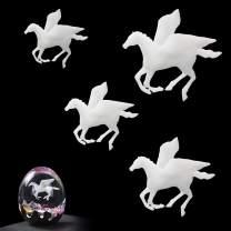 Finelnno 3D Mini Resin Filler Mold Filler Jewelry Making Supplies for Art Resin Molds Crafts DIY (4pcs Mini Pegasus A)