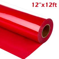 """guangyintong Heat Transfer Vinyl Roll for T-Shirts 12"""" x 12ft Matte (Red A4)"""