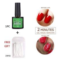 Magic Nail Polish Remover,Gel Polish Remover,ColorfulLaVie Professional Gel Polish Removal Soak-Off Gel nail Polish IN 3-5 Minutes, Easily & Quickly, Don't Hurt Your Nails - 8ml