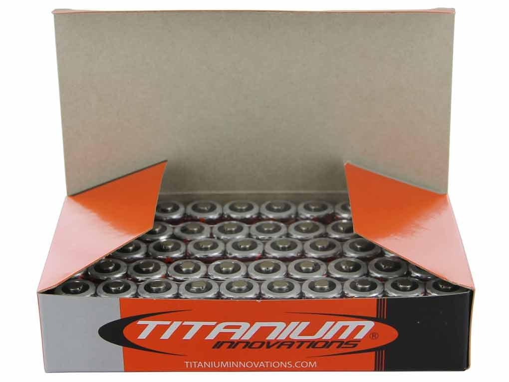 Titanium Innovations CR123A 3V Lithium Battery - Box of 50