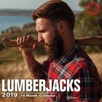 2020 Lumberjacks Wall Calendar by Bright Day, 16 Month 12 x 12 Inch, Hot Sexy Bearded Guys