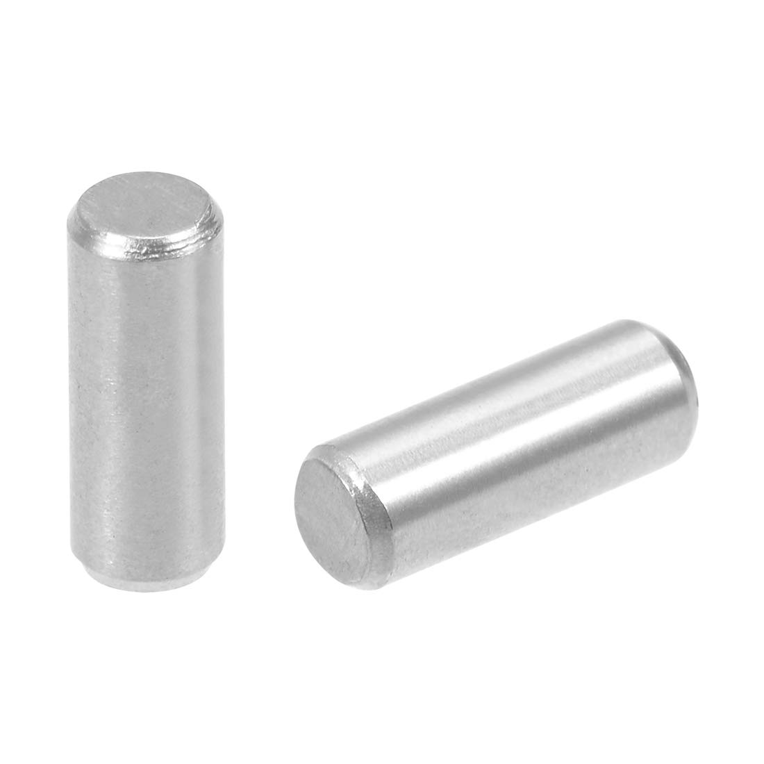 uxcell 50Pcs 3mm x 8mm Dowel Pin 304 Stainless Steel Wood Bunk Bed Dowel Pins Shelf Pegs Support Shelves Silver Tone