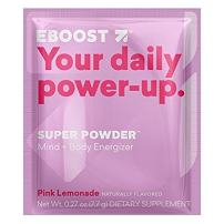 EBOOST Super Energy Powder (Pink Lemonade) Drink Mix, Non-GMO Electrolyte Supplement Loaded with Vitamins, Minerals and Antioxidant for Men & Women, 20 Count